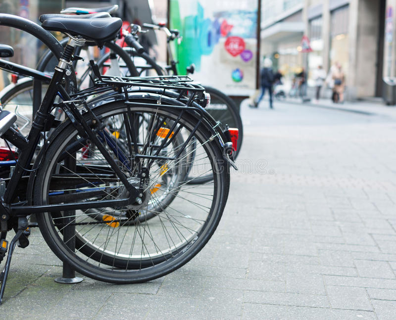 Bicycles On Street Royalty Free Stock Photography