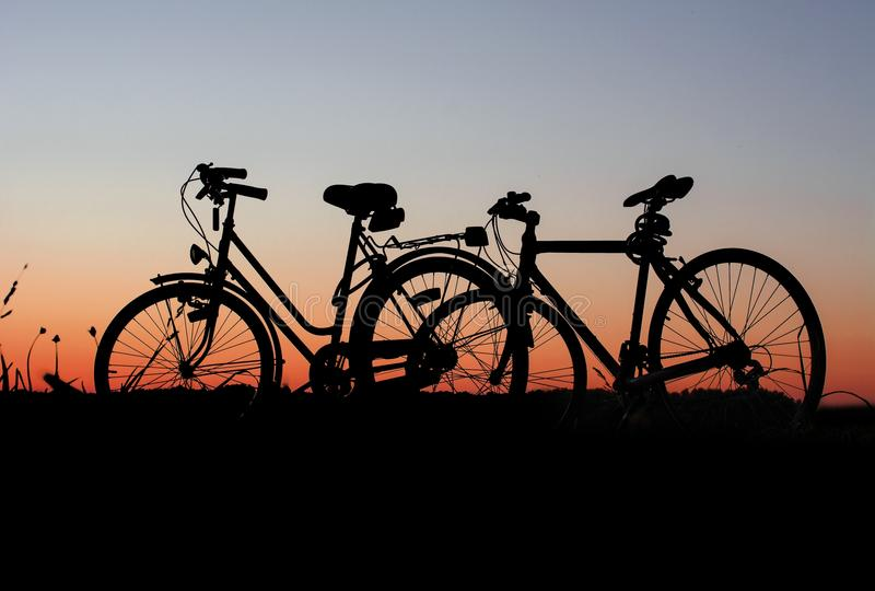 Bicycles At Sunset Free Public Domain Cc0 Image
