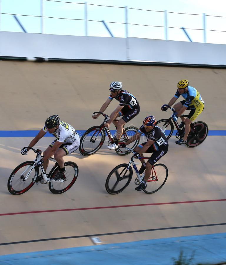 Bicycles On The Velodrome Track Editorial Photo