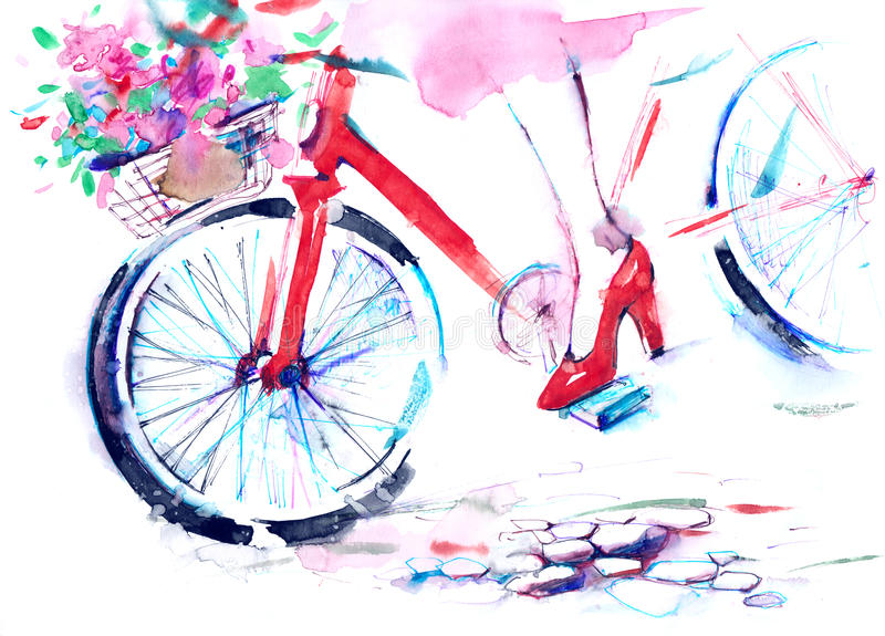 Bicyclette illustration libre de droits