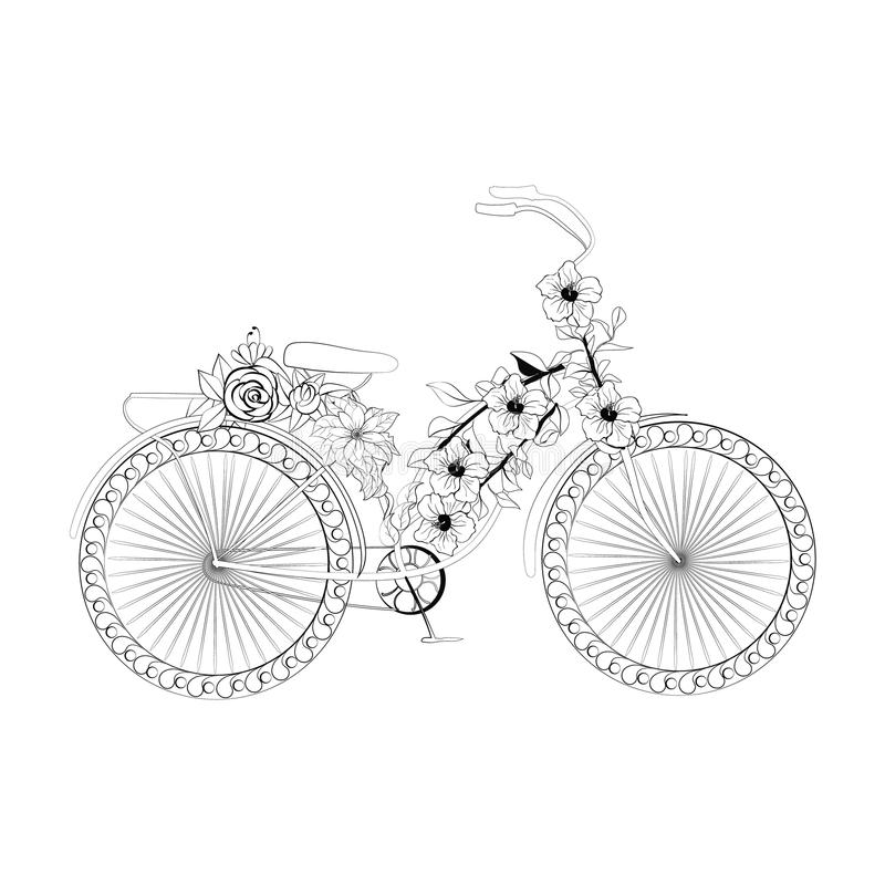 Bicyclette abstraite d'imagination illustration stock