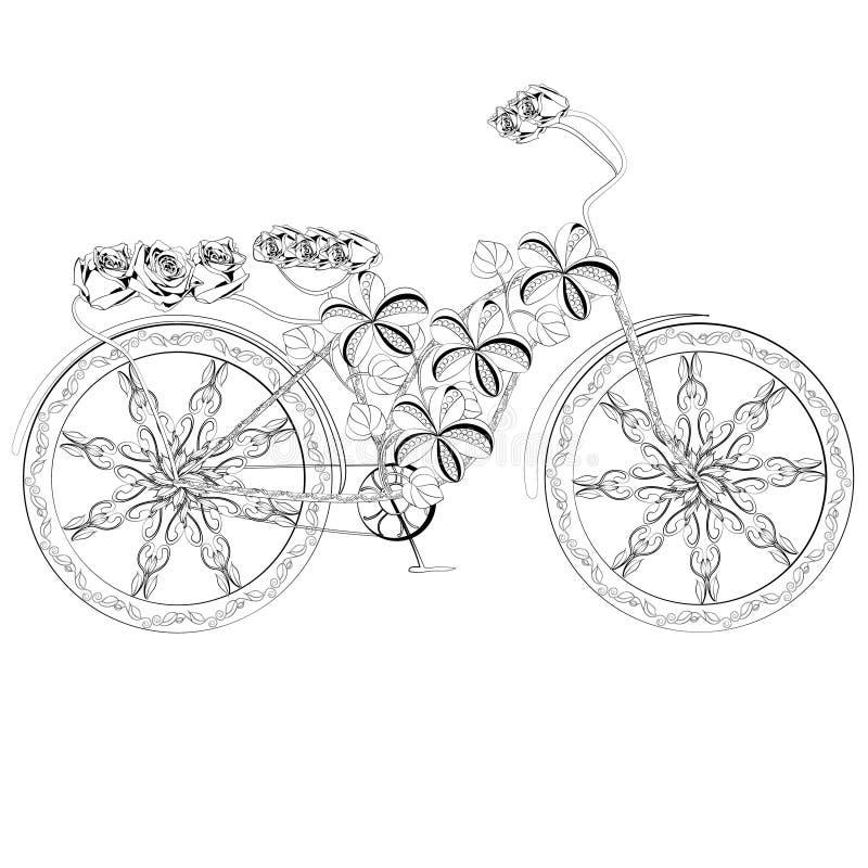 Bicyclette abstraite d'imagination illustration libre de droits