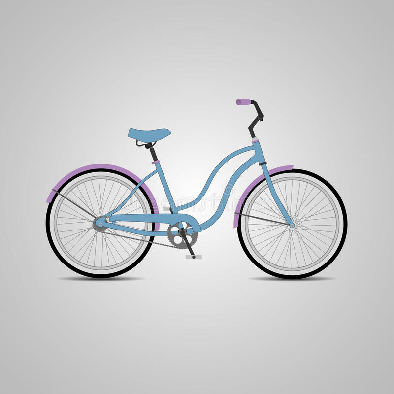 Bicyclette bleue de ville Illustration de vecteur photo libre de droits