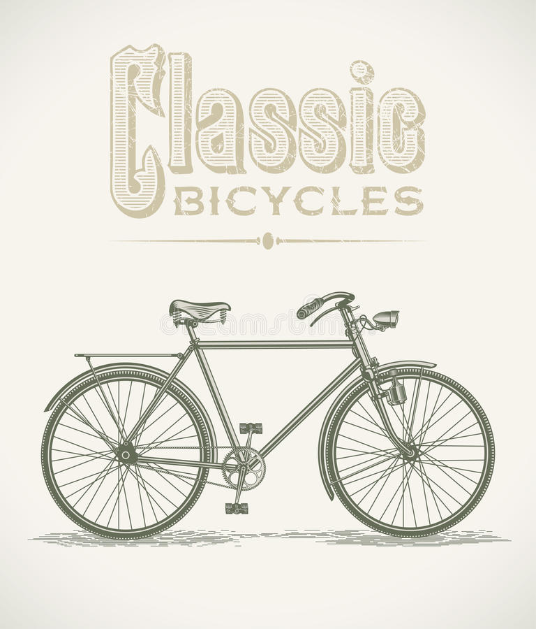 Bicyclette classique de gentlemans illustration stock