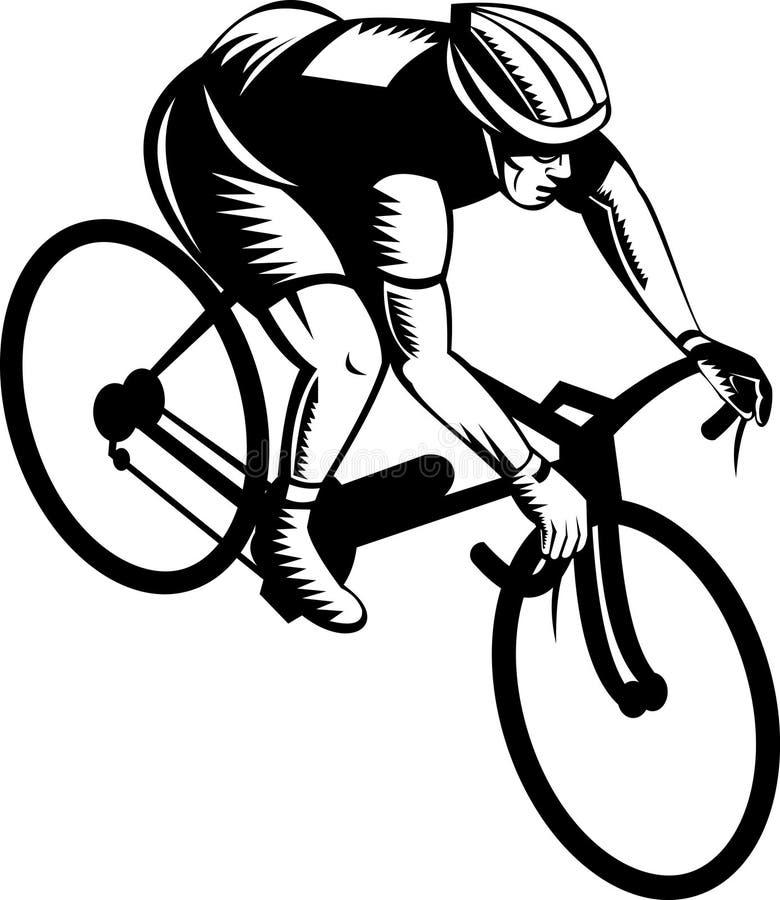 Bicyclette d'équitation de cycliste illustration libre de droits