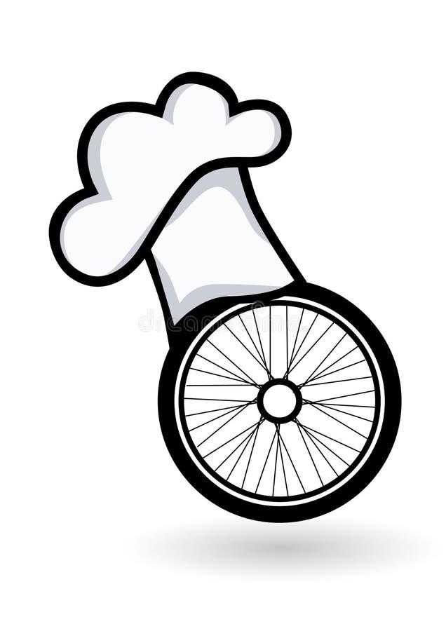 Bicyclette de chef illustration de vecteur
