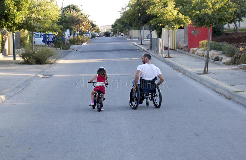 Bicyclette de fauteuil roulant photo stock