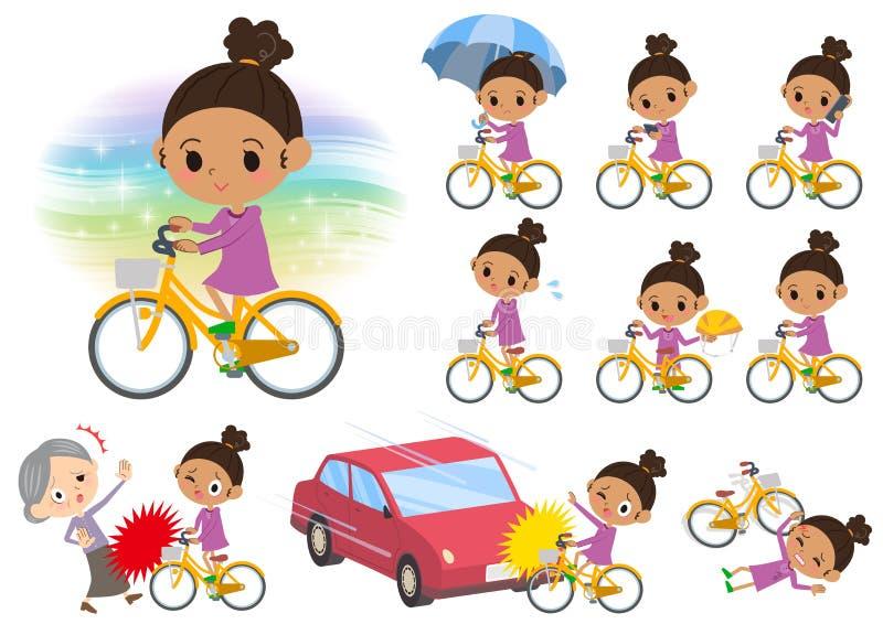 Bicyclette de girl_city de cheveux de Perm illustration libre de droits