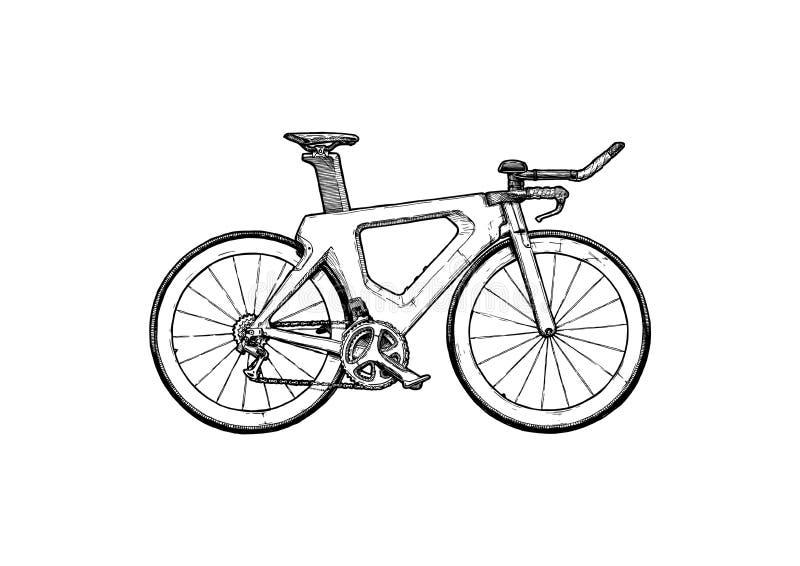 Bicyclette de procès de temps illustration stock