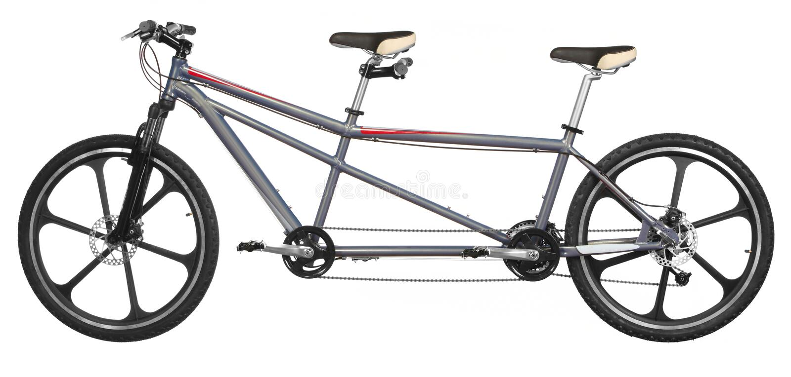 Bicyclette de tandem d'Isoalted photographie stock