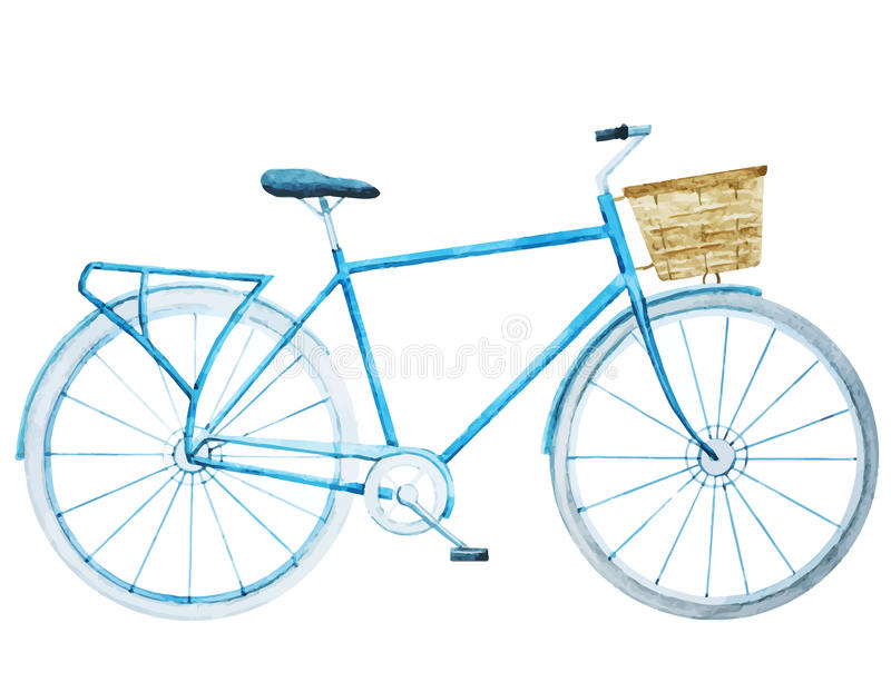 Bicyclette de vélo d'aquarelle illustration libre de droits