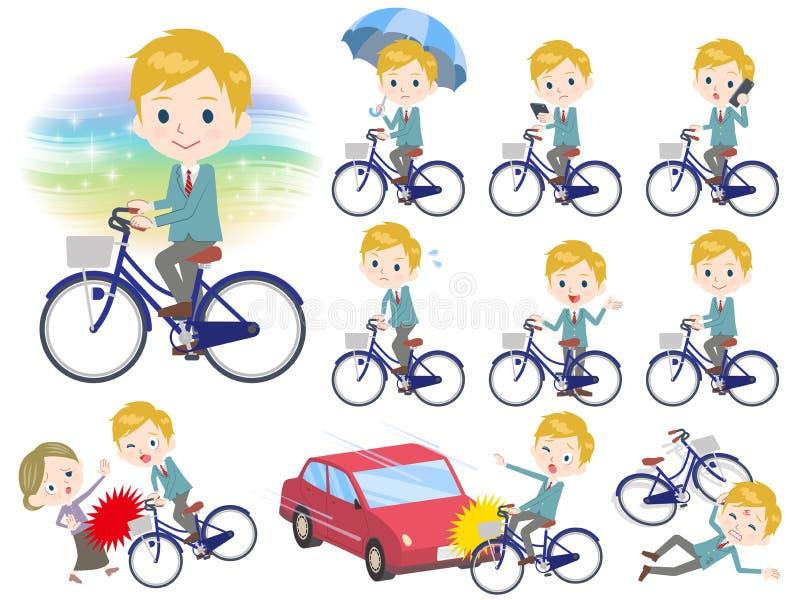 Bicyclette de White_city d'écolier illustration stock
