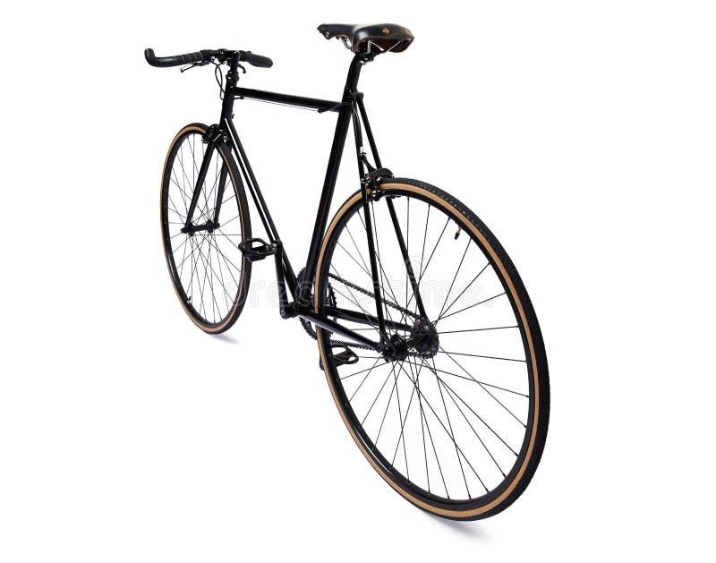 Bicyclette fixe noire de vitesse image stock