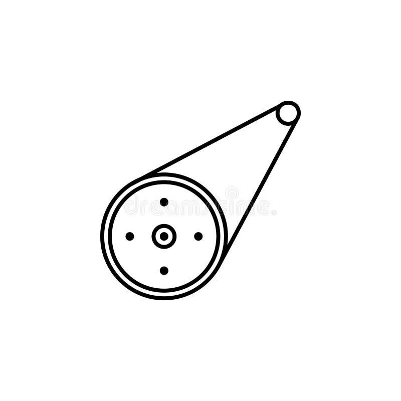 Bicyclette, icône d'ensemble de pignons Peut être employé pour le Web, logo, l'appli mobile, UI, UX illustration libre de droits