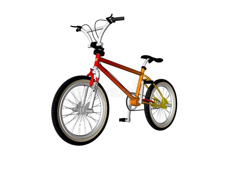 Bicyclette illustrée illustration de vecteur