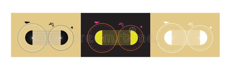 Bicyclette irréelle d'imagination illustration libre de droits
