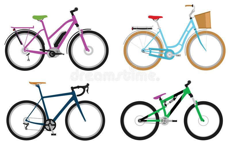 Bicyclettes illustration stock