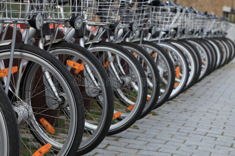 Bicyclettes De Ville Photo stock