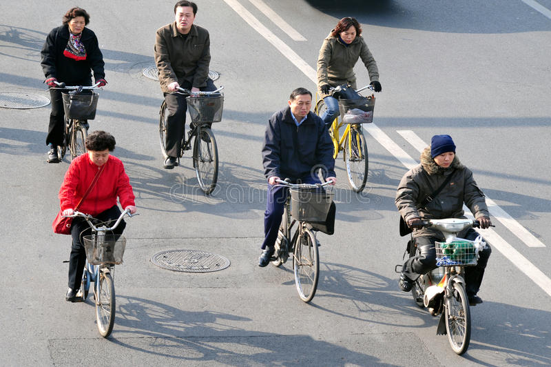 Bicyclettes en Chine images libres de droits
