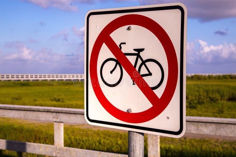 Bicyclettes non permises photographie stock libre de droits
