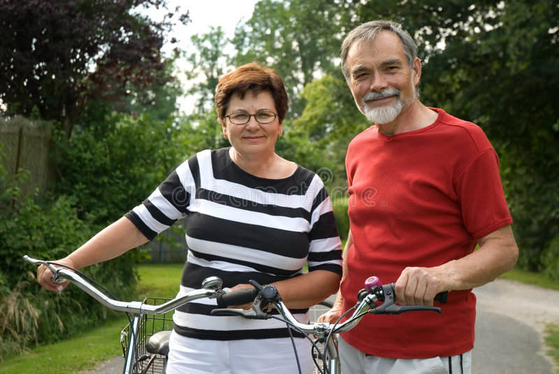 Bicycling Royalty Free Stock Photography