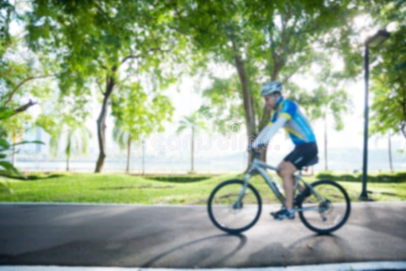 Bicycling borrado fotografia de stock royalty free