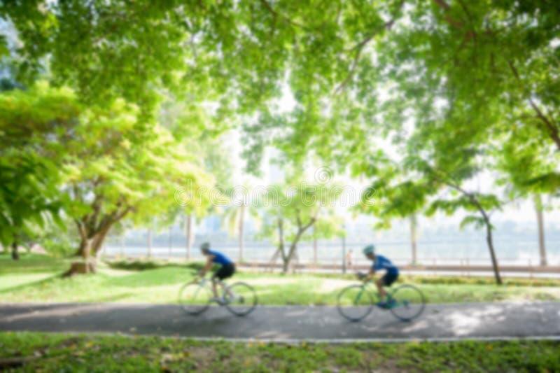 Bicycling borrado imagem de stock