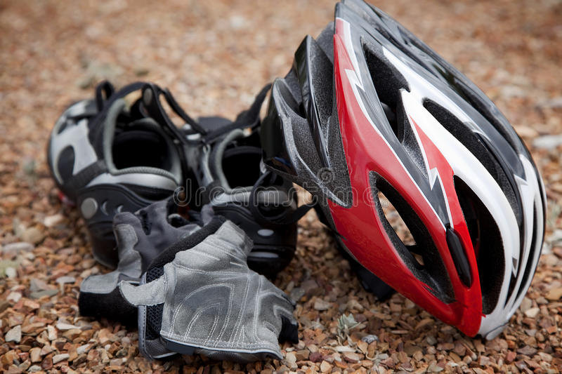 Bicycling Gear Stock Image