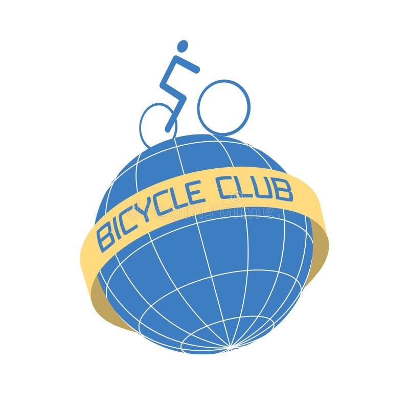 Bicycling vector design element, logo royalty free illustration
