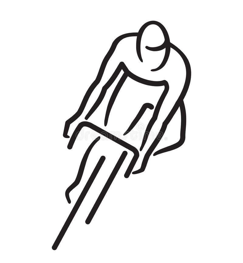 Bicyclist στο οδικό ποδήλατο απεικόνιση αποθεμάτων