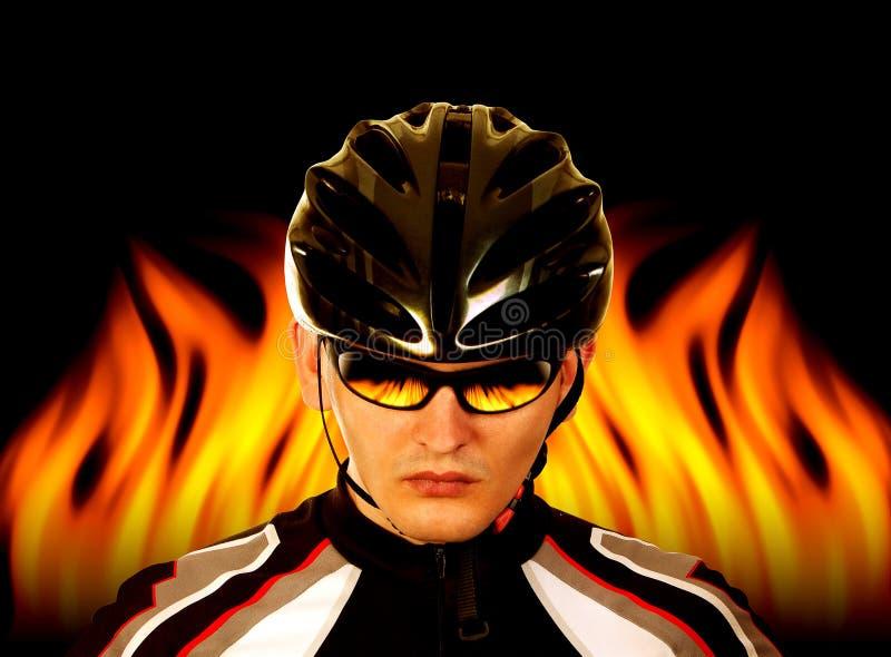 Bicyclist foto de archivo