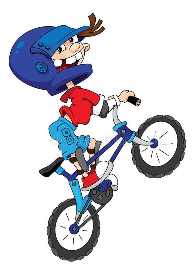 Bicyclist stock illustration