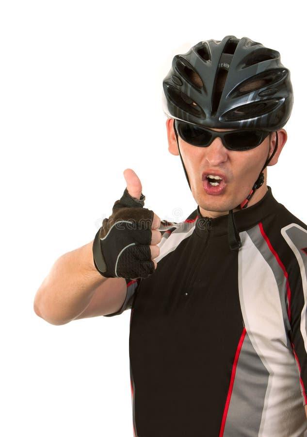 Bicyclist fotografía de archivo
