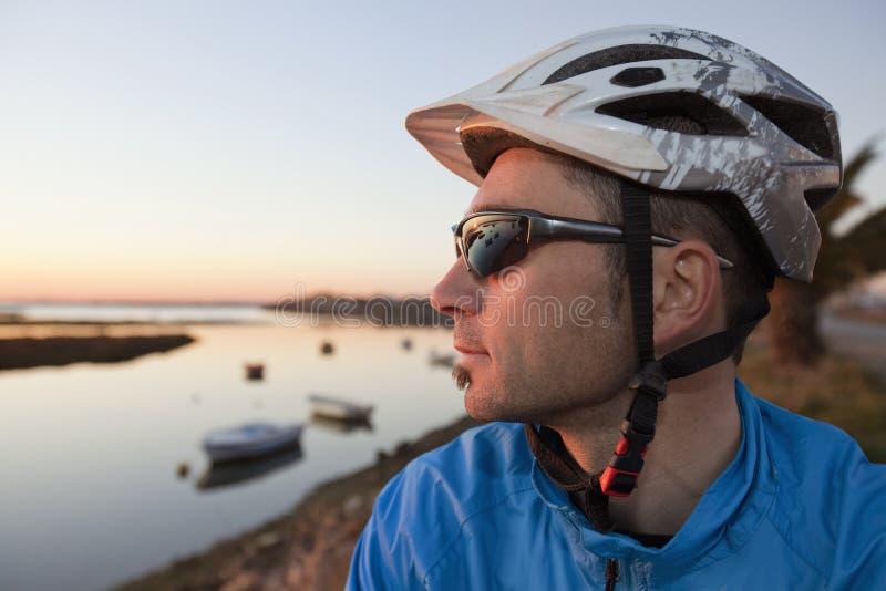 Bicyclist imagen de archivo libre de regalías