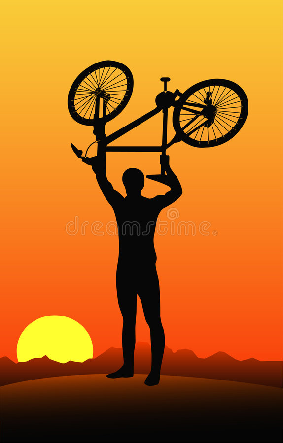 Bicyclist royalty free illustration