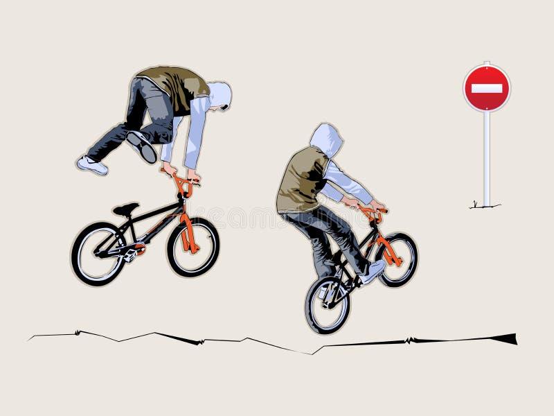 bicyclist διανυσματική απεικόνιση