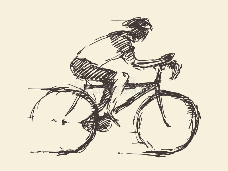 how to draw a bike rider