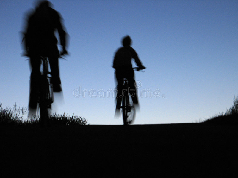 Download Bicyclists stock image. Image of silouette, person, females - 3566073