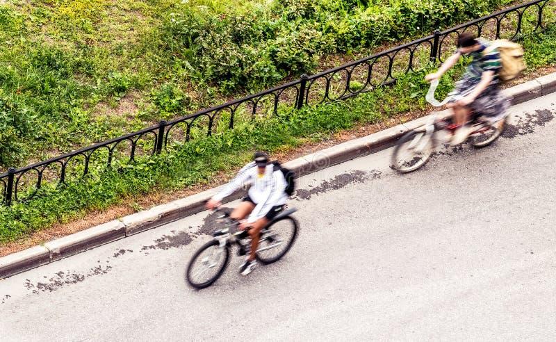 bicyclists imagem de stock royalty free