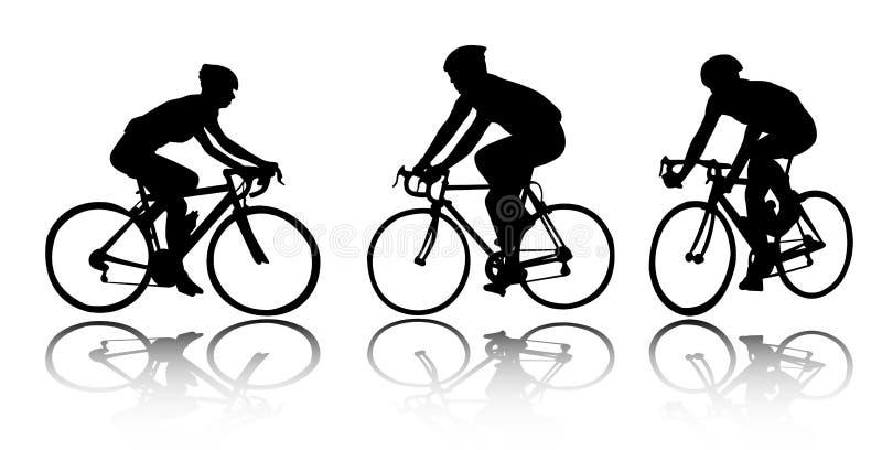 Bicyclists illustrazione di stock