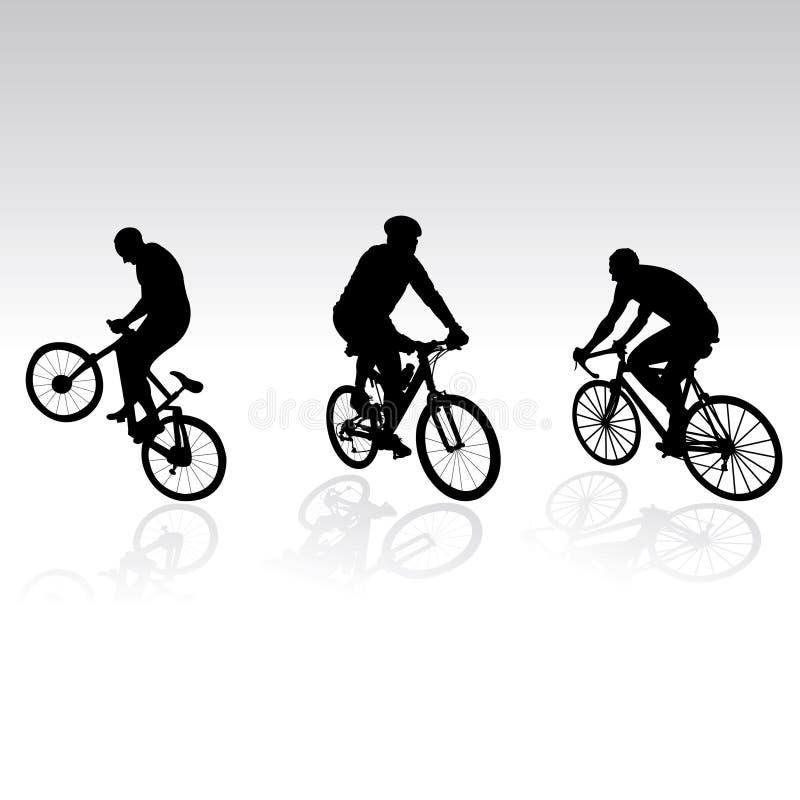 Bicyclists para seu projeto ilustração stock