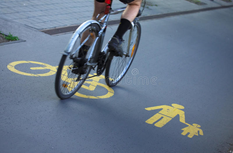 Download For Bicyclists And Pedestrians Stock Image - Image: 24812835
