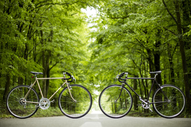 bicykl dwa obraz royalty free