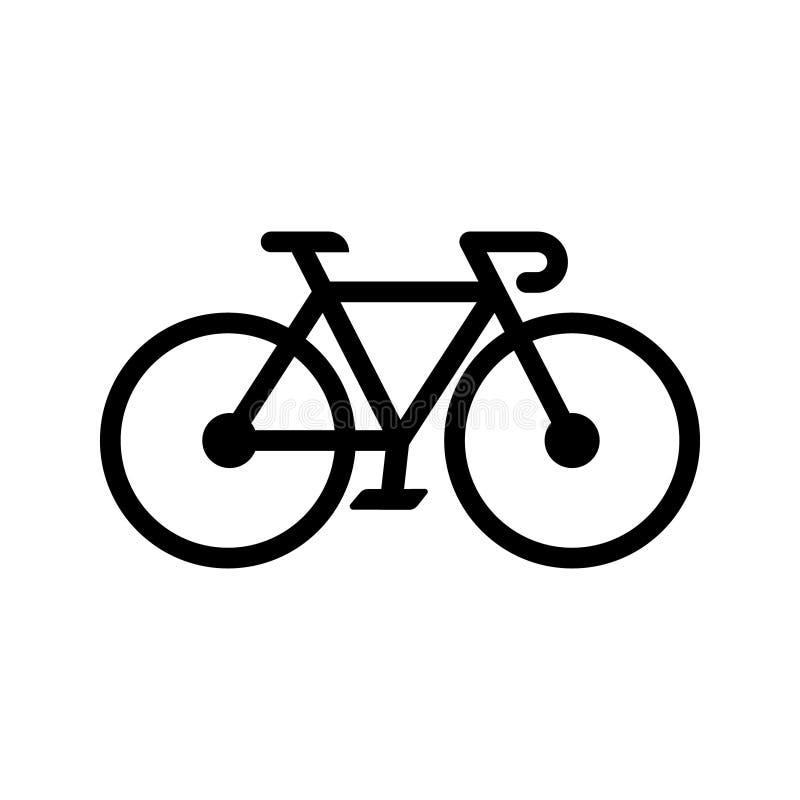 Bicykl ikony szyldowy wektor Roweru ilustracyjny symbol na białym odosobnionym tle Kolarstwo logo royalty ilustracja