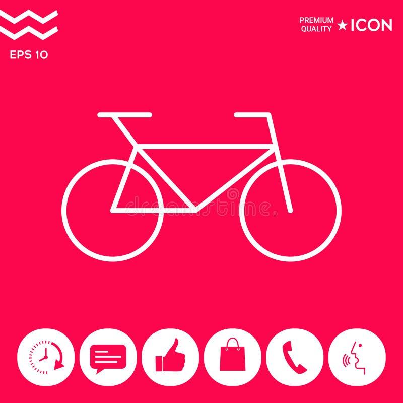 Bicykl kreskowa ikona royalty ilustracja