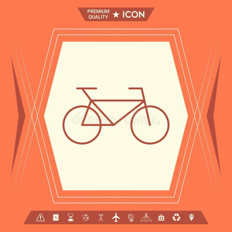 Bicykl kreskowa ikona ilustracji