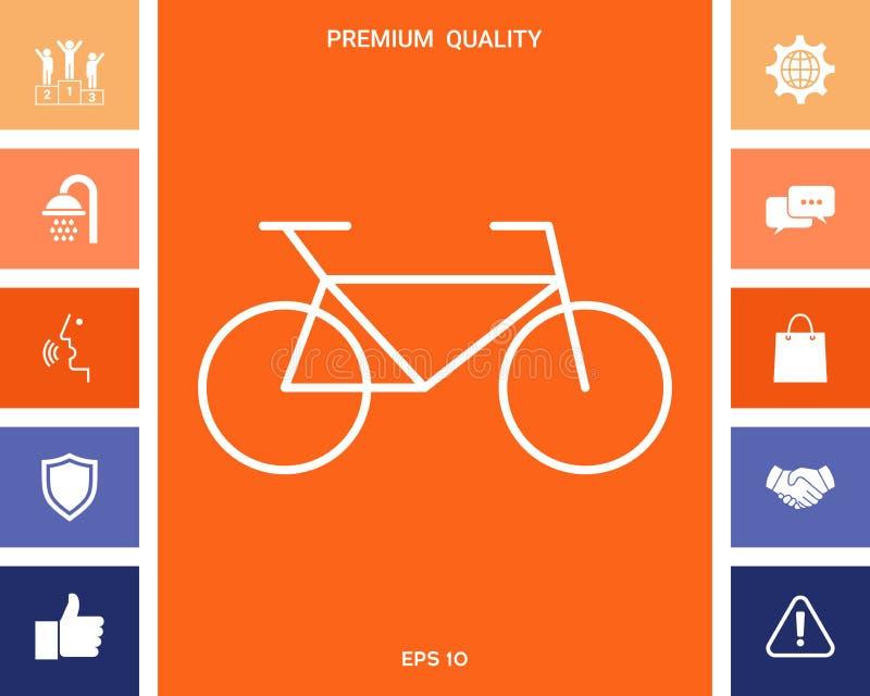 Bicykl kreskowa ikona ilustracja wektor