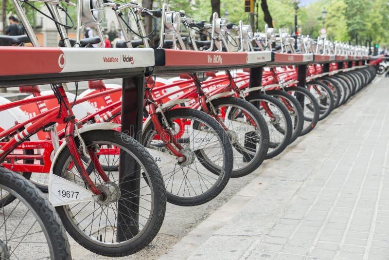 Bicykl parkujący zdjęcie royalty free