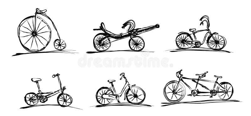 bicykle royalty ilustracja