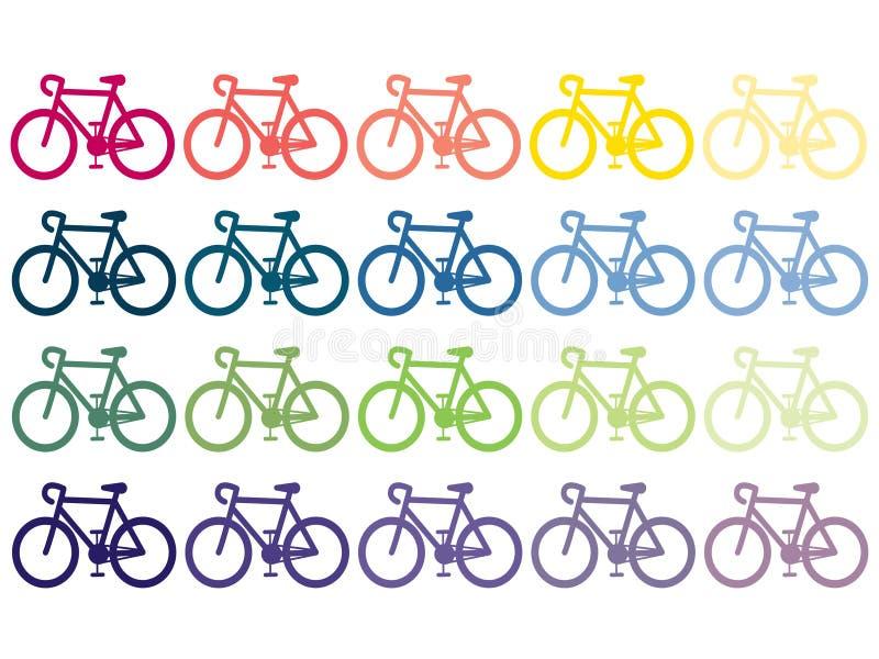 Bicykles, fietsen, editable EPS AI van regenboog vectorbeelden vector clipart royalty-vrije illustratie